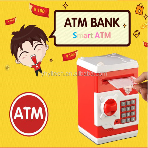 2016 hot money saving square coin bank for kid education
