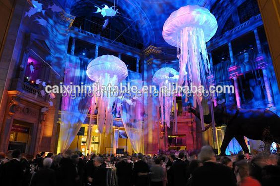 Customized inflatable led jellyfish/ inflatalbe giant jellyfish decoration with factory price