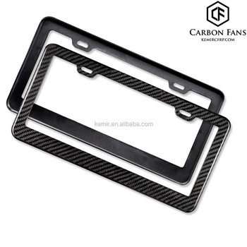 100% Pure Carbon Fiber Licence Plate Frames For Us Car Number Plate ...