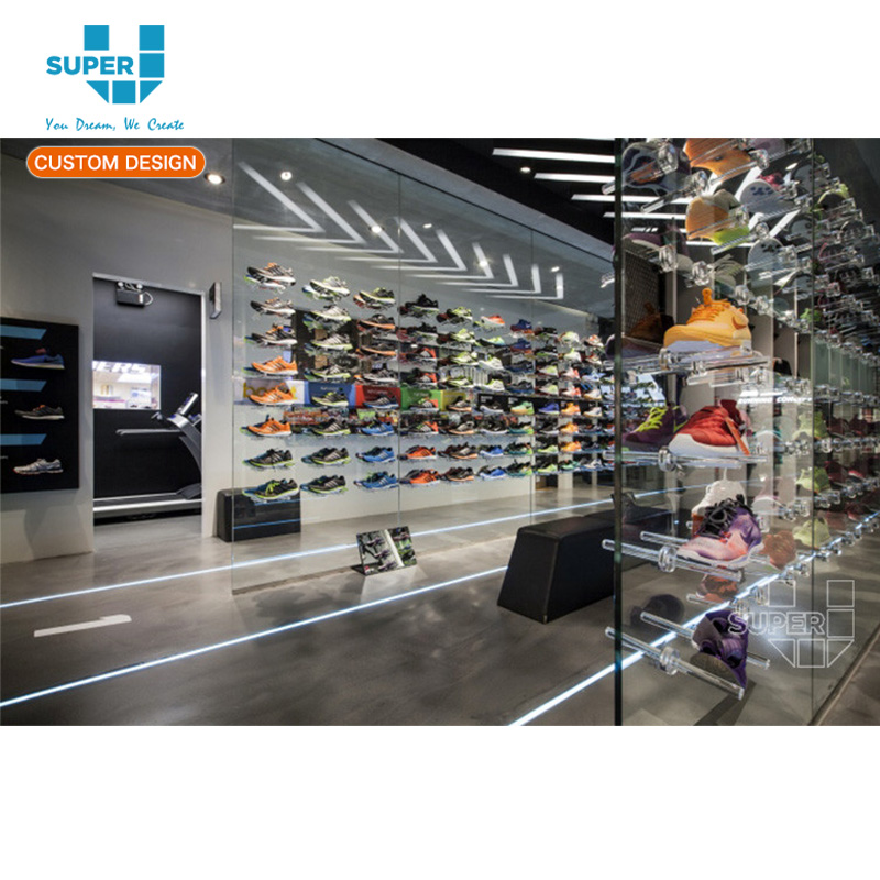 433c60a8aabc Custom Made Customized Tempered Grass Bracket Women's Shoes Store Display  Showcase
