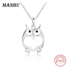 sterling silver fine owl pendant necklace JN7666-P