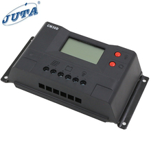 JUTA 30A Solar Charge Controller/regulator 12V 24V Auto PWM Charging with USB and LCD Display