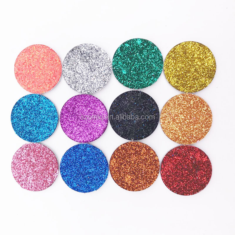Low MOQ private label 12 color single high pigment shining glitter eyeshadow palette print your logo