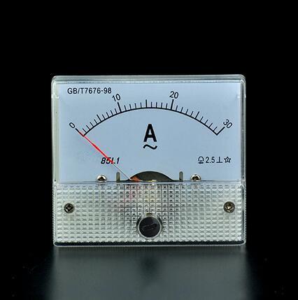 AC 0 20/A Rectangle analogique panneau amp/èrem/ètre Jauge Classe 2.5/85L1