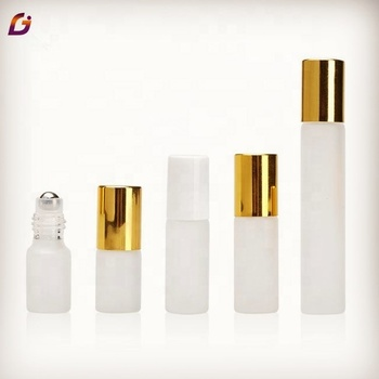 Factory price frosted glass cosmetics roller bottle