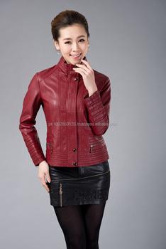 Girls Women Ladies Red Leather Jacket And Skirts Set Buy Ladies