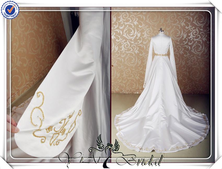 Jj3521 Goldstickerei Muslimischen Hochzeitskleid Muslim Braut ...