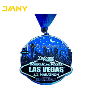 Custom Made Soft Enamel Color Las Vegas 1/2 Half Marathon Metal Running Award Medal