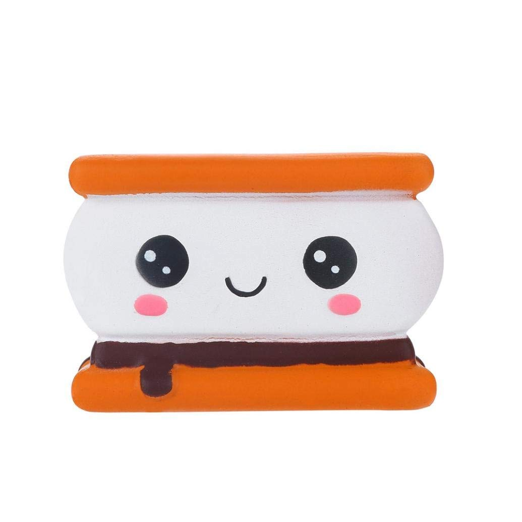 Lavany Squishies Jumbo Biscuit Cake Toys,Cute Food Squishy Slow Rising Jumbo Squishies Toy Scented Squeeze Toy for Adult Party (B)
