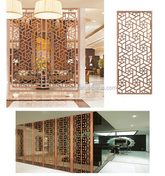 Lovely Elegant Style Laser Cut Room Divider Partition Screen For Living Room