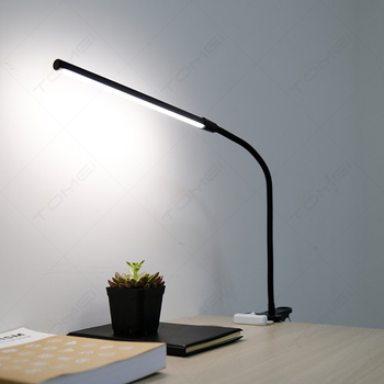 ABS Clip On Desk Bed Lights Flexible Long Arm Adjustable Clamp Desk Lamp LED