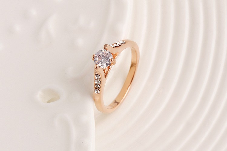 Glitter Gorgeous Ring For Girls Wedding Jewelry Chinese Gold Rings