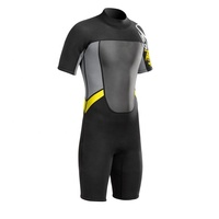 Low Price Neoprene Wetsuit Shorty Mens 2mm Padded Swimsuit Neoprene Laminated Super Stretchy Fabric Surfing Wet suit