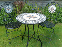 Outdoor Marble Mosaic Bistro Set - Buy Outdoor Bistro Set,Marble ...