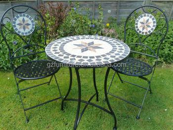 Outdoor Marble Mosaic Bistro Set