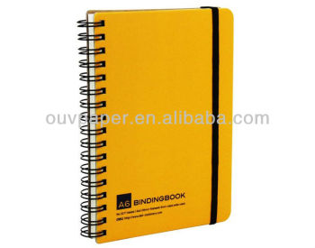 Hardcover elastisches Band Papier Spiral-Notebook-Druck