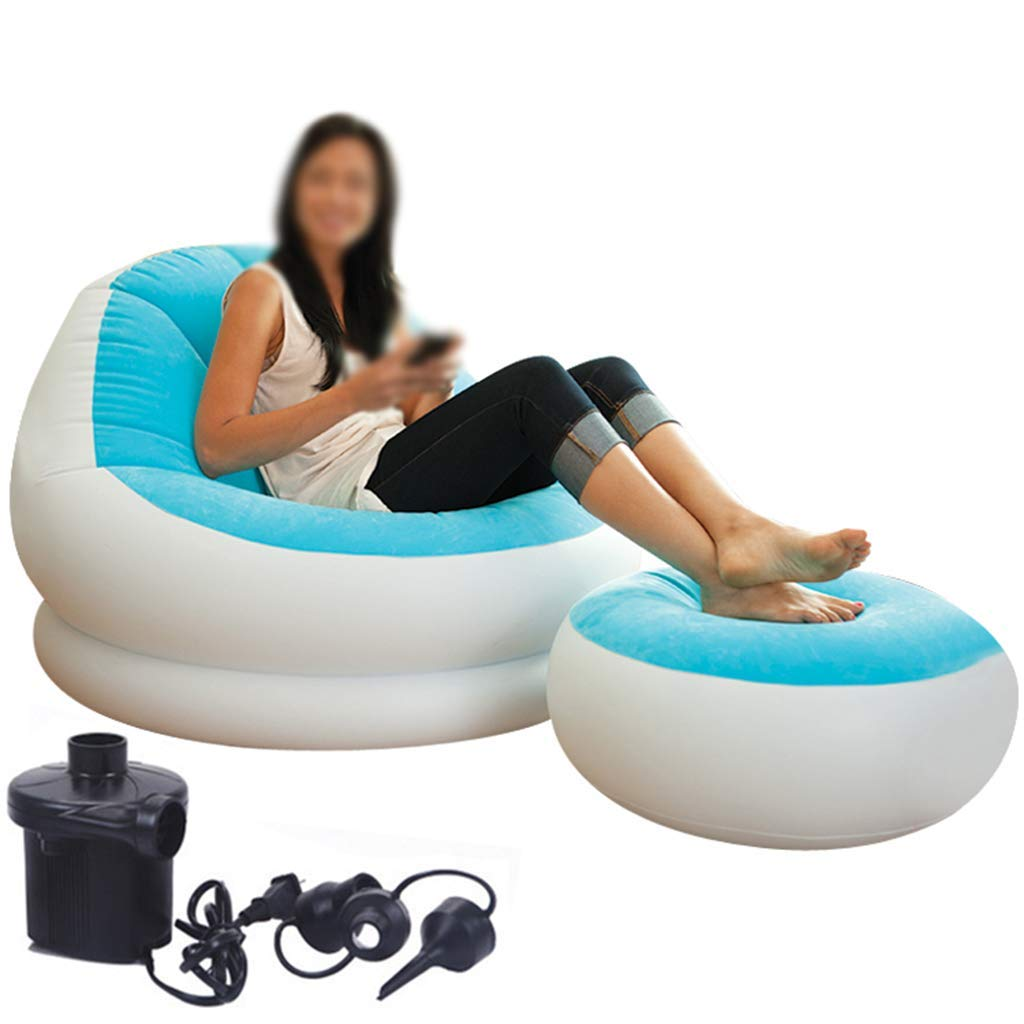 Activity & Gear Modern Adult Inflatable Sofa Leisure Living Room Furniture Comfortable Recreational Flocking Pvc Lounger Sofa Chair