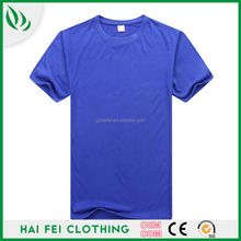 China manufacturer Haifei Clothing round neck silk screen printing t shirt