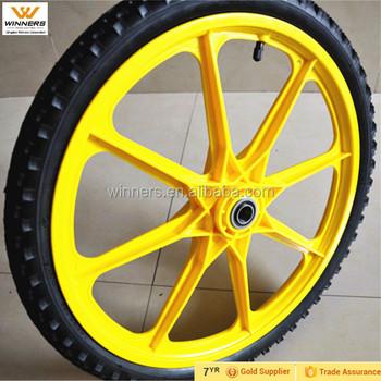 Incroyable 20 Inch Pneumatic Spoked Garden Cart Wheels