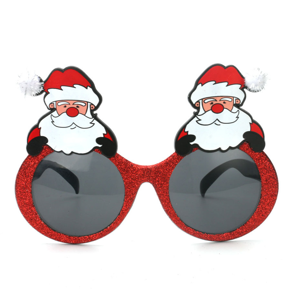 Santa Claus funny glasses gift personality cartoon character funny props toys holiday party decoration supplies
