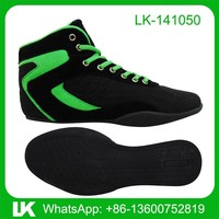 Chinese leather sports shoes wrestling shoes