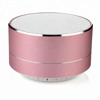 new arrivals 2018 metal mini portable wireless sound speaker with Mic TF card FM radio AUX MP3 music play loud speaker