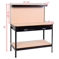 metal storage workbench with drawers
