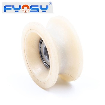 coated plastic plain bearing 625 626 696 695 ZZ plastic ball bearing U groove or V groove plastic bearing