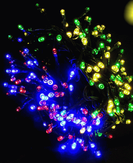 Color Changing In Red/yellow/blue/green Led Solar Christmas Lights ...