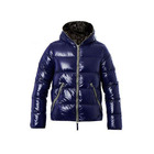 Outdoor shiny puffer down jacket for men