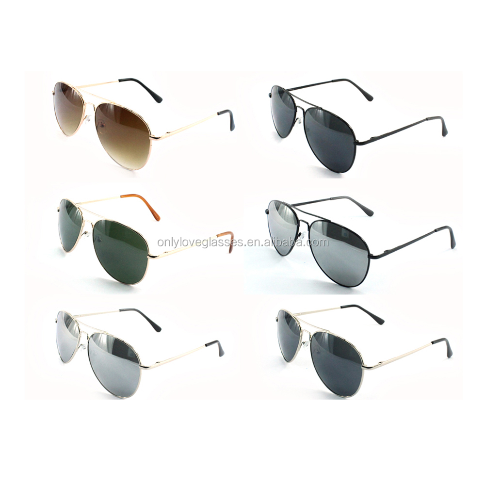 aviation sunglasses  spring hinges