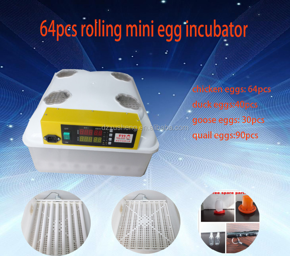 Small incubator automatic hatching 64 eggs incubator with high rate
