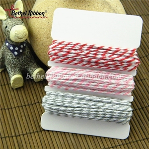 Retail packaging colored twisted cotton rope twine spool