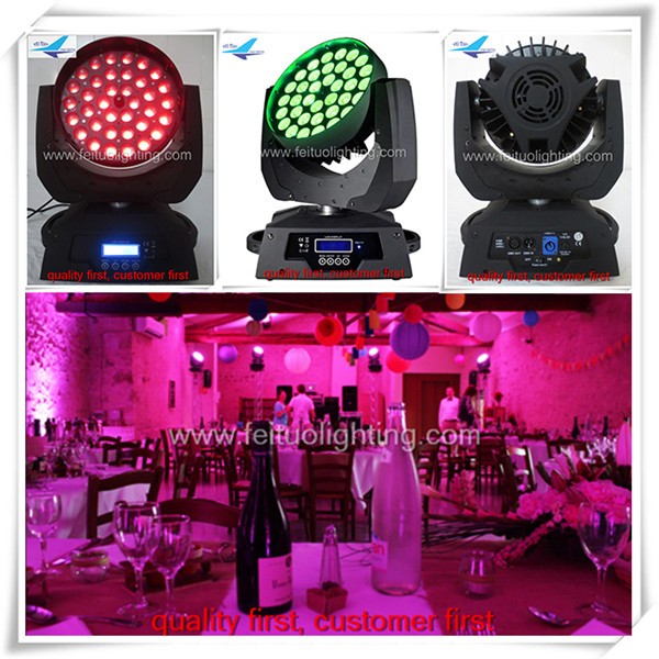 (16pcs)free shipping dj lighting quad color rgbw led zoom moving head high quality wash led moving head 36 10w
