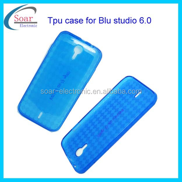 For Blu studio 6.0 tpu case,plain tpu case for Blu studio 6.0 ,back cover tpu case for Blu studio 6.0