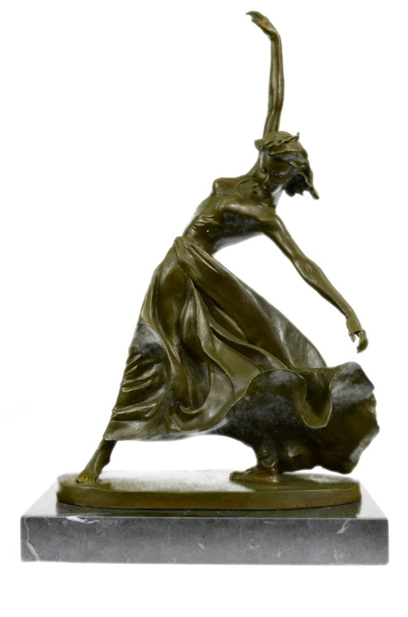 Handmade European Bronze Sculpture Vintage Reproduction