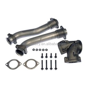 Dorman 679-005 fits Ford V8 7.3L 99-03 Super Duty Exhaust Turbo Adapter Pipe Kit, with Hardware Bellowed Exhaust Up-pipe kit
