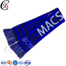 Chengxing custom knitted printed fashion wholesale high quality poland soccer football team fan acrylic scarf