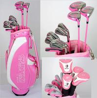 Caiton MEGA X Lady's High Quality Golf Clubs Complete Set with Pink Crystal Pu Golf Stand Bag