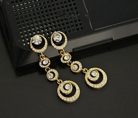 wholesale hot sale Little earrings fashion bohemian Style rhinestone gold earrings designs for girls