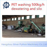 1000kg/h waste used plastic pet bottle crushing crusher washing drying dewatering machine recycling production line