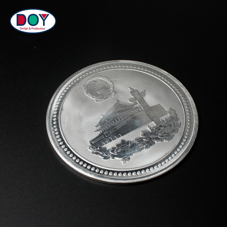 Cheap Plated Silver Custom Double Sides Logo Game Play Metal Collectibles Coins for Souvenir Gifts