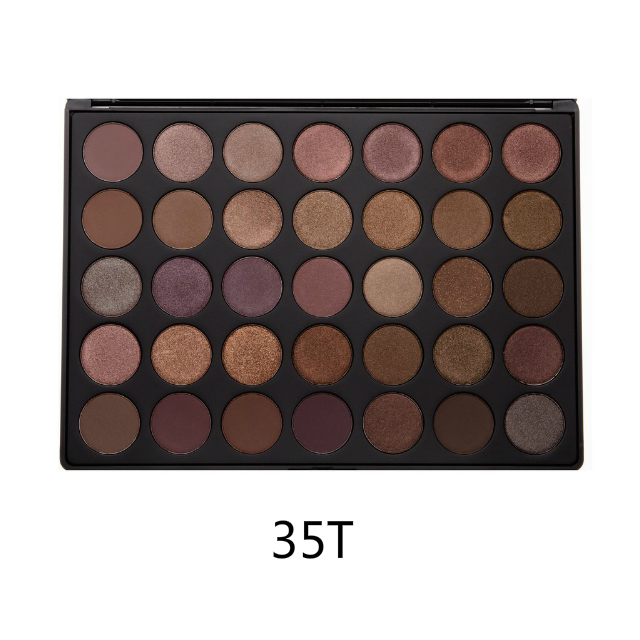 35 Color Taupe Eye shadow Palette Makeup eyeshadow Palette Private Label <strong>Cosmetics</strong>