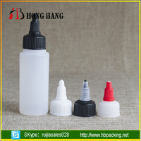 New products round shoulder Tattoo Ink PE 2oz 100ml e juice plastic glue bottles with twist top cap