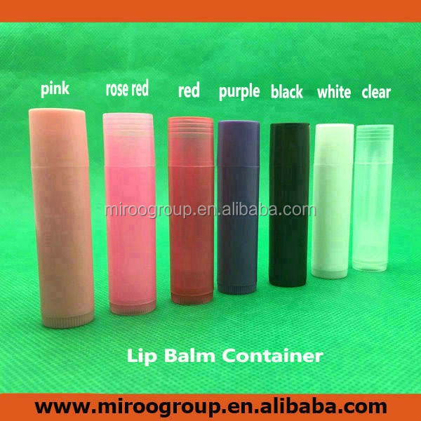 colorful DIY empty 5ml plastic twist tubes for homemade lip balms, creativity cosmetic gifts for make your own lip balm