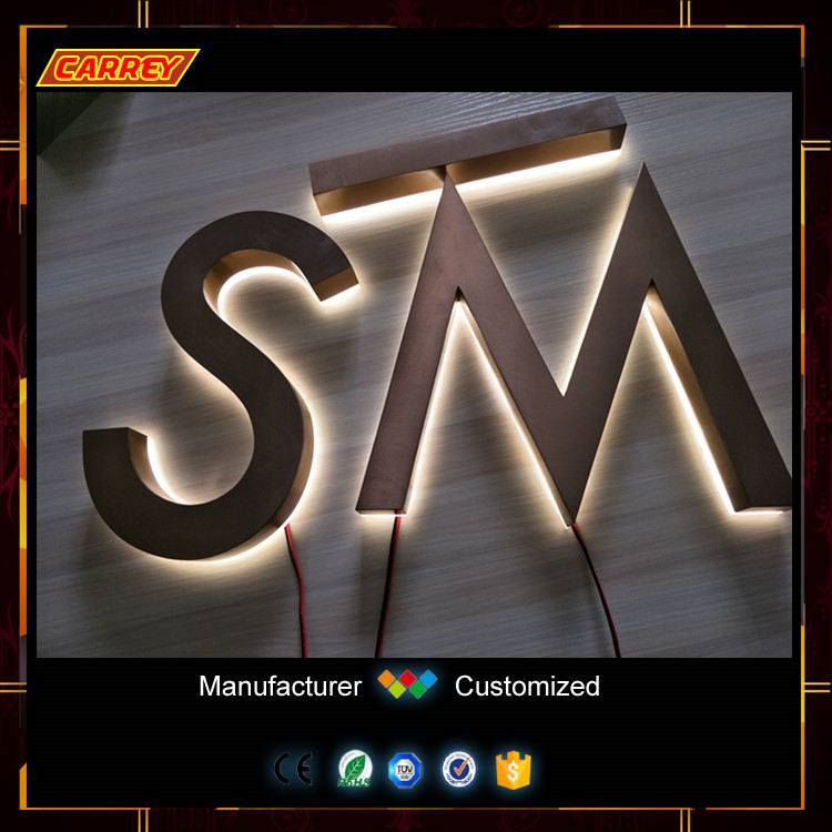 Finely polished 3d letter sign for thailand