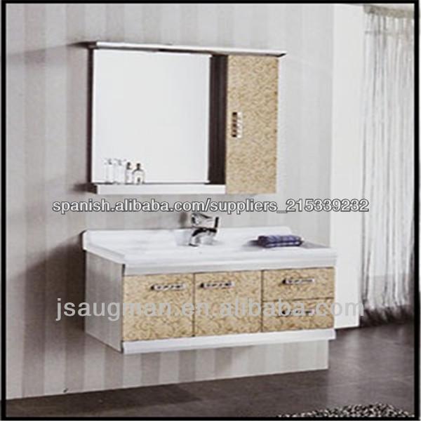 Muebles de estilo moderno alta calidad baño esquina espejo Gabinete ...