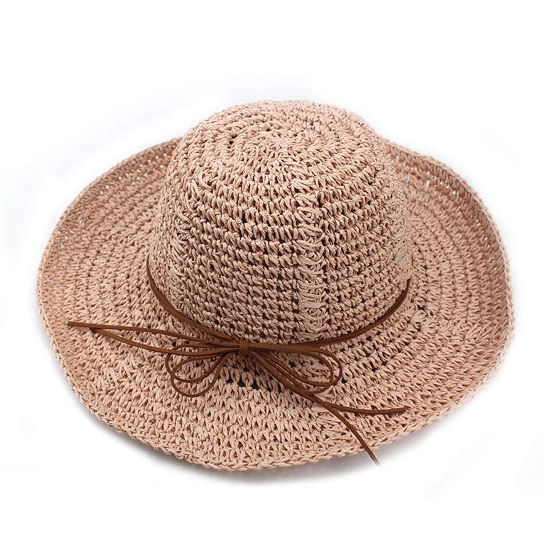 Get Quotations · Eric Hug hat Summer Straw Hat Women Big Wide Brim Beach  Hat Sun Hat Foldable Sun 7d1e02701127