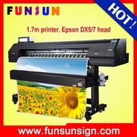 Funsunjet FS-1700K 1.7m 1440dpi DX5/DX7 head classical double side eco solvent printer ink