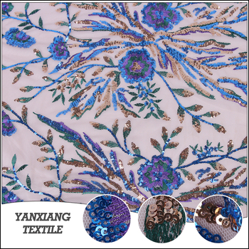 Latest Style High Quality High-end Sequin Embroidery Fabric